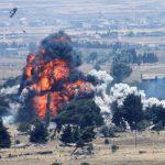 Yhdysvaltain joukot tuhoavat lentokentän ja laitteet, vetäytyessään Pohjois-Syyriasta