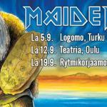 Kotimainen Iron Maiden tribuuttikiertue starttaa syyskuussa - MaidenFest nähdään Turussa, Oulussa ja Seinäjoella