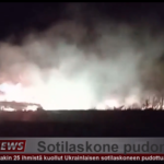 Ukrainan sotilaskone syöksynyt maahan
