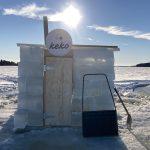Lappajärven jääsaunassa nautitaan lempeistä löylyistä